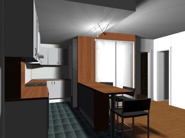 Travaux de l'architecte - cuisine moderne fonctionnelle