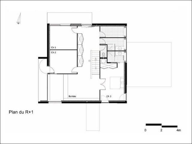 Plan R+1 - maison 10x10