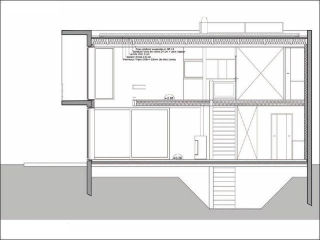 Coupe transversale - maison 10x10