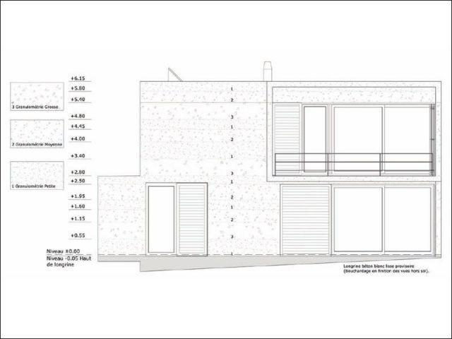 Façade Ouest - maison 10x10