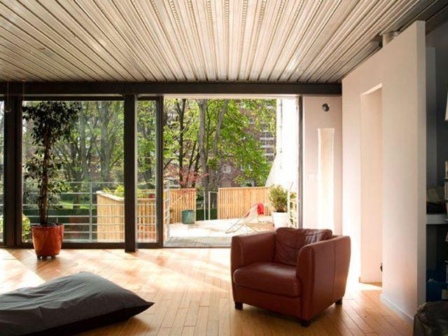 Un salon séjour d'une superficie de 45 m2 - maison
