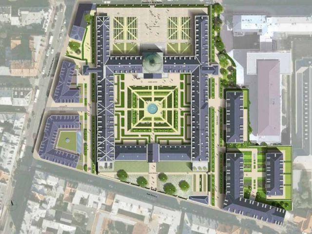 Plan masse - hôpital Royal Richaud Versailles