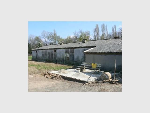 Porcherie avant - Vue extérieure - Reportage rénovation porcherie