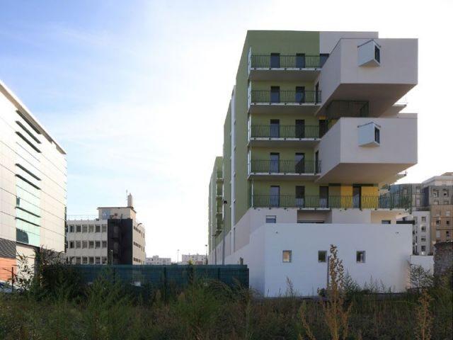 Façade de côté - Koz architectes logements