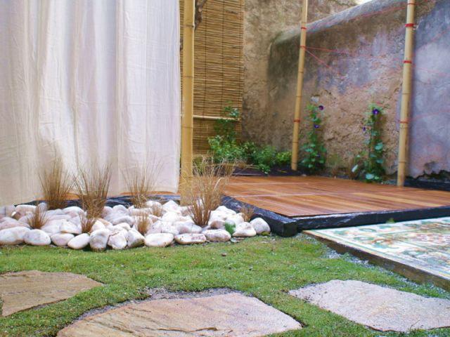 Dalles en pierre naturelle - Reportage - un jardin urbain