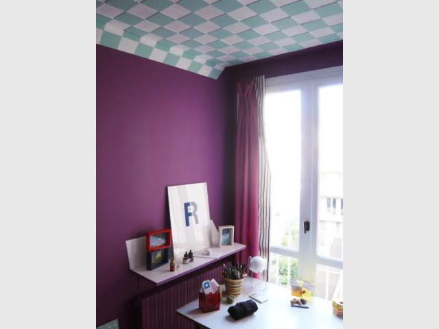 Peinture violette - Trompe l'oeil Xavier Fenouil