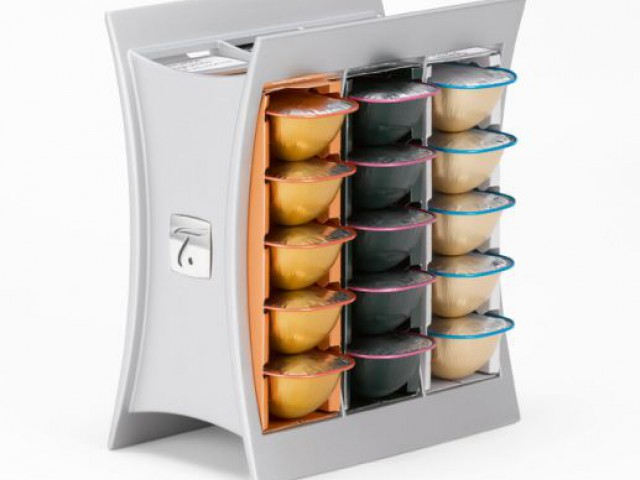 Le rangement carré façon tiroir - Supports pour capsules