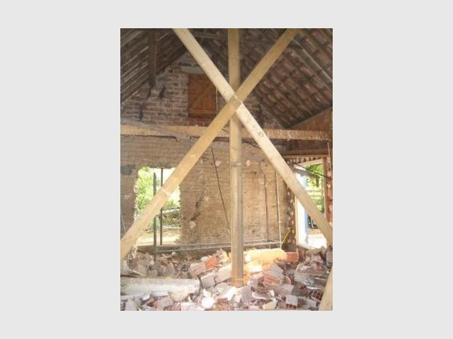 Phase travaux - création du futur séjour - Reportage extension maison