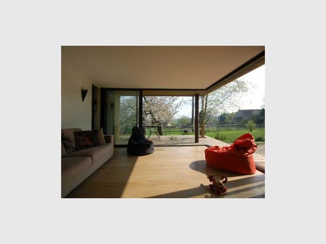 Salon - Reportage extension maison