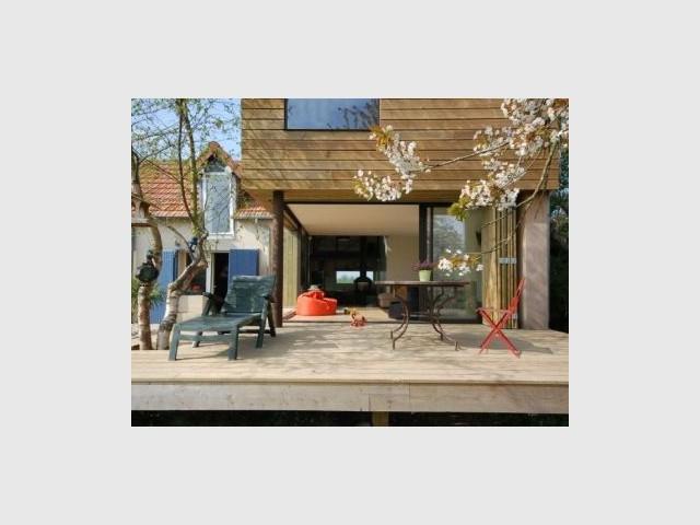 Extension - Vue sur le salon - Reportage extension maison