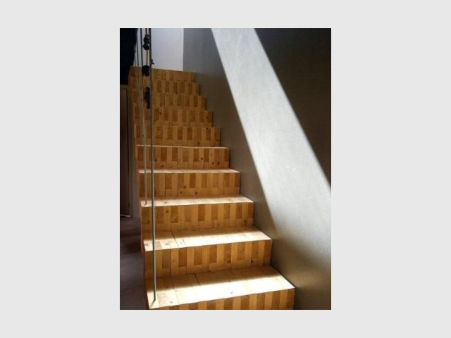 Escalier bois - Reportage extension maison
