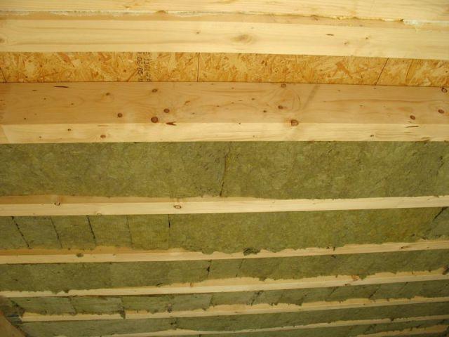 Plafond du rez-de-chaussée - Isolation Rockwool Eco-logis