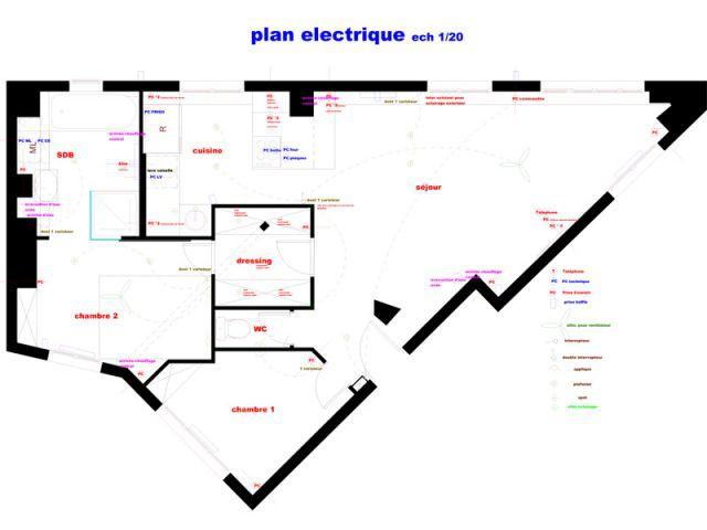Plan de l'appartement après les travaux - Reportage dressing
