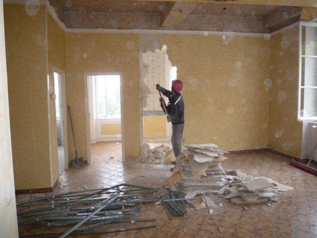 Chambre - Pendant les travaux - Reportage salon