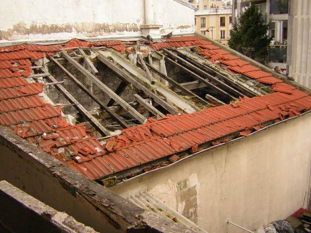 Toiture avant travaux - Rénovation ébénisterie