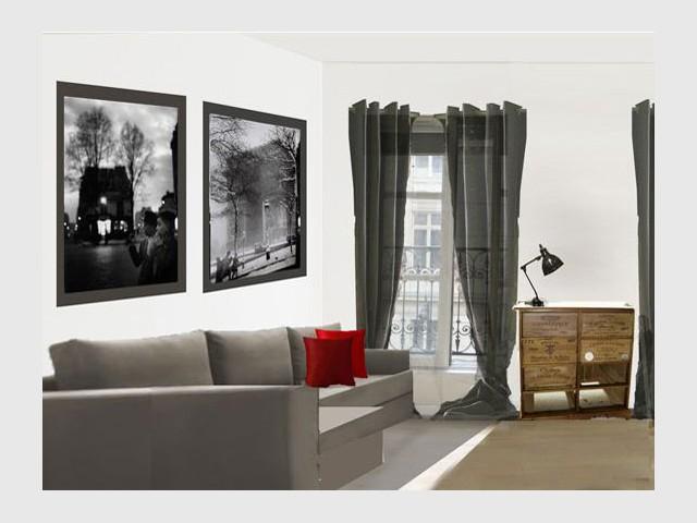 Salon - Vue d'ensemble - Appartement parisien hôtel