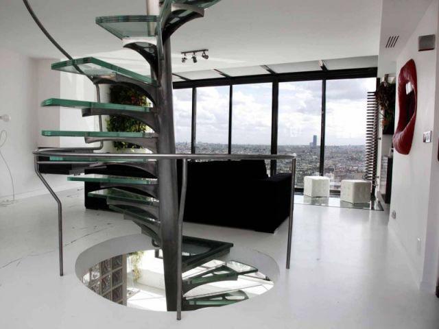 Niveau 2 : coin salon et bureau - Appartement Jean Paul Lubliner