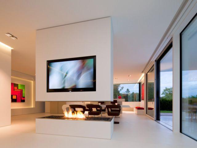 Une cheminée high tech - Maison Hi-Macs