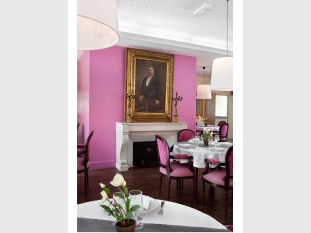 Petit salon rose - Villa Beausoleil