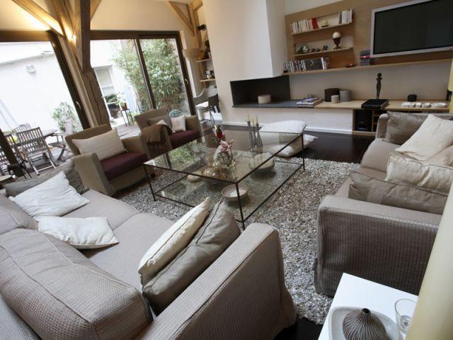 Cheminée - Appartement terrasse