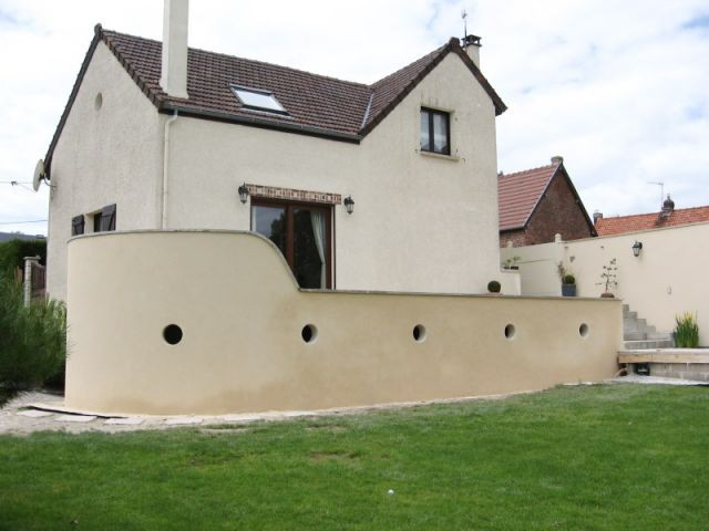 Maison après - Auto-construction terrasse