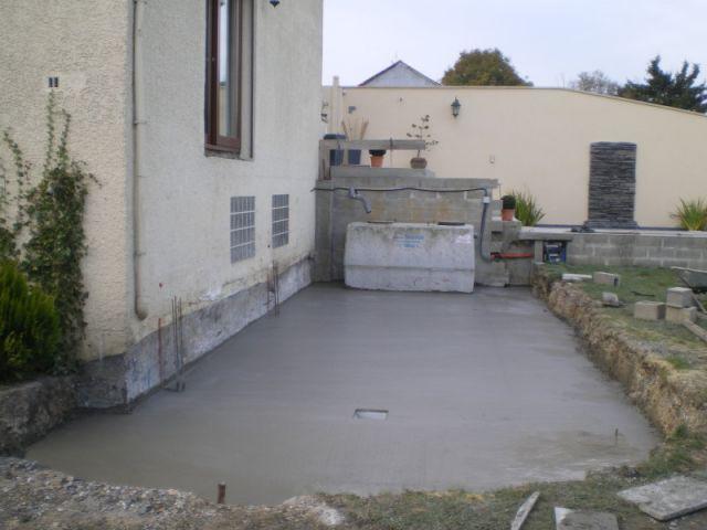 2ème étape : le coulage de la dalle - Auto-construction terrasse