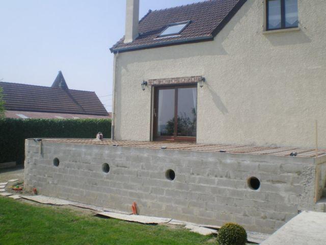4ème étape (suite) - Auto-construction terrasse