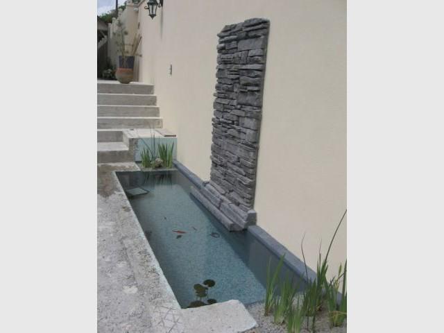 Détail bassin - Auto-construction terrasse