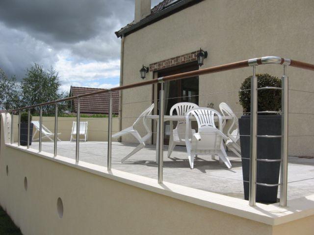 6ème étape (suite) - Auto-construction terrasse