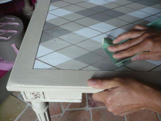 5ème étape : les finitions - Relooking meubles anciens