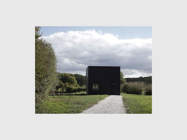 Une maison d'architectes - cube noir