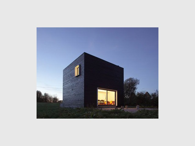Lumière discrète - cube noir