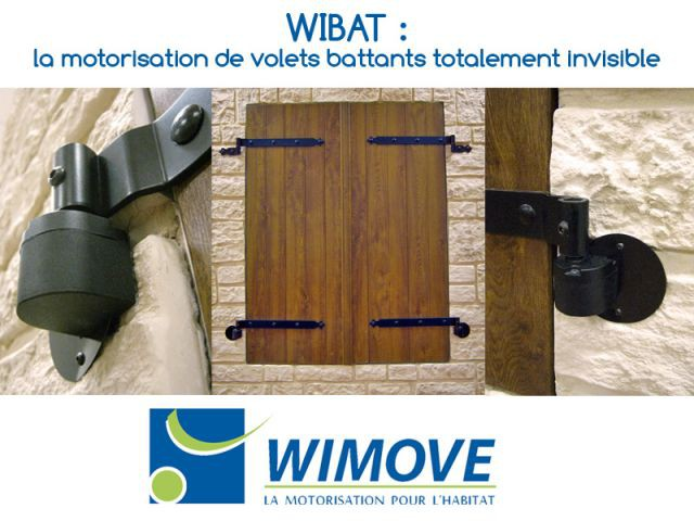 wibat la motorisation de volets battants totalement invisible. Black Bedroom Furniture Sets. Home Design Ideas
