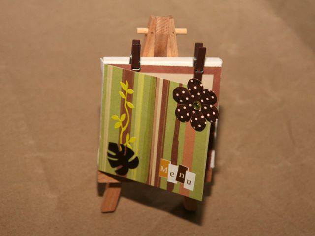 Fabrication d'un menu - Résultat final - Les ateliers de Mireia