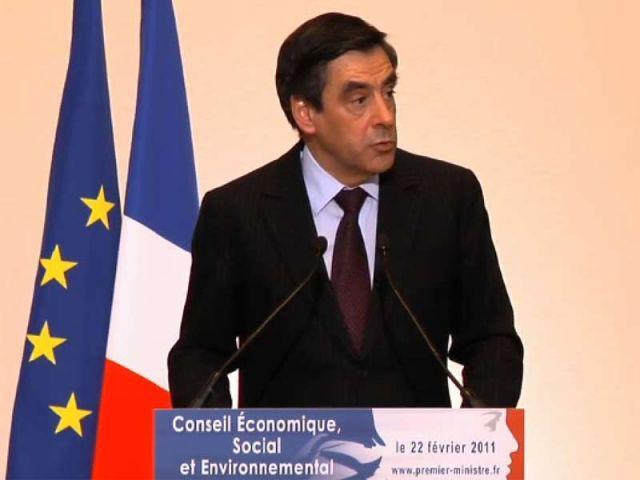 François Fillon le 22 février 2011