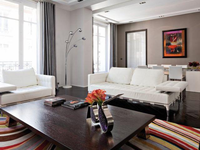 1 haussmannien revisit dans 1 style chic et l gant. Black Bedroom Furniture Sets. Home Design Ideas