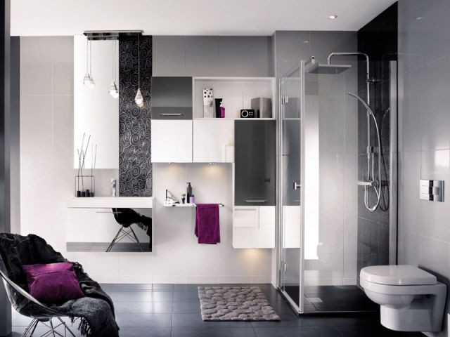 douche l 39 italienne 20 am nagements originaux. Black Bedroom Furniture Sets. Home Design Ideas