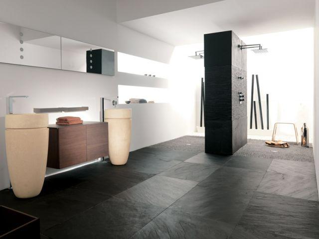 Une douche à installer, deux techniques possibles - Douche à l'italienne