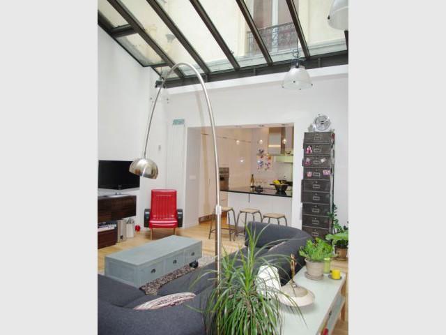 Pièce à vivre - Après travaux - Appartement Montmartre