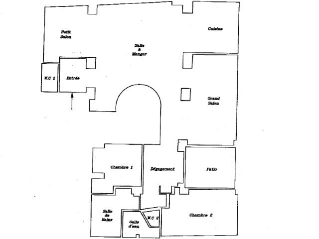 Ancien plan - Appartement Montmartre