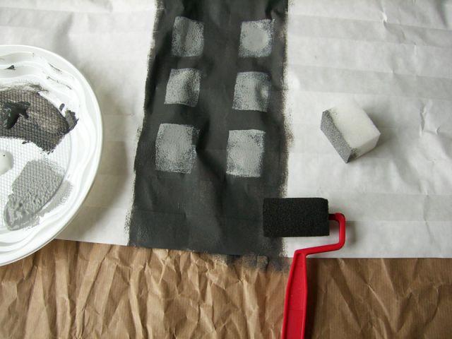 Peinture au rouleau - étape intermédiaire - Les Ateliers de Mireia