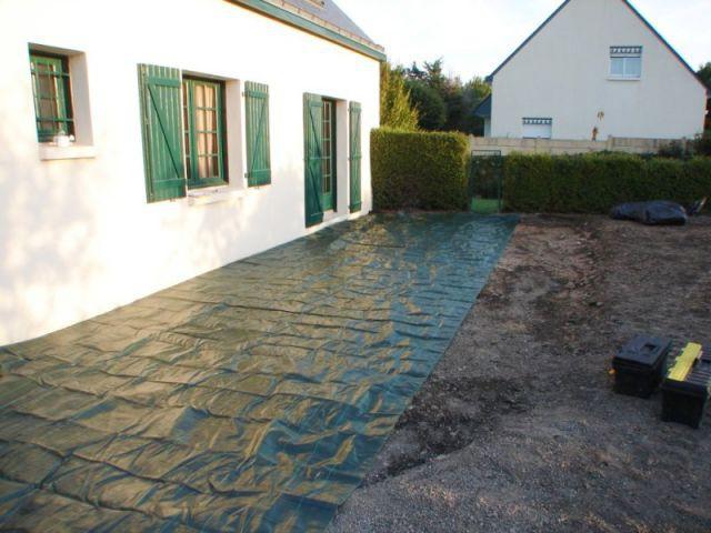 Etape 2 : préparation du terrain - Montage terrasse bois