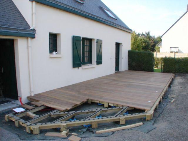 Etape 5 : fixation des lames (suite) - Montage terrasse bois