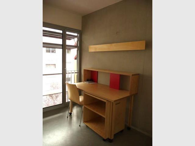 Mobilier - résidence étudiante Belleville Brigitte Métra
