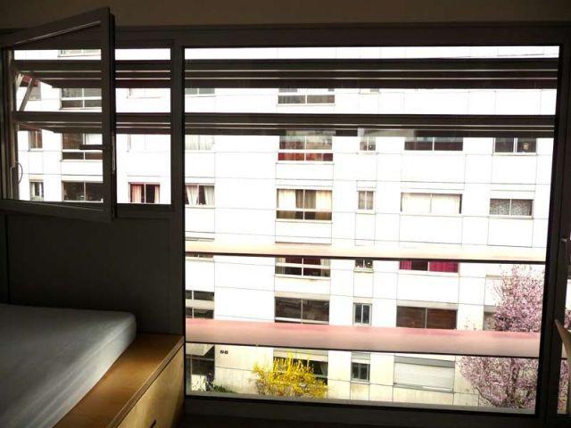 Vue depuis la chambre - résidence étudiante Belleville Brigitte Métra