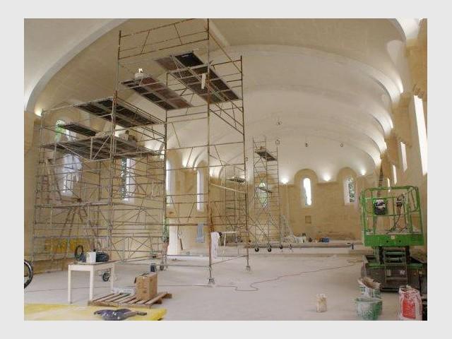 La voûte de l'église abbatiale - Bâtisseur de monastère