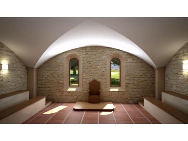 La salle du chapitre - vue 3D - Bâtisseur de monastère