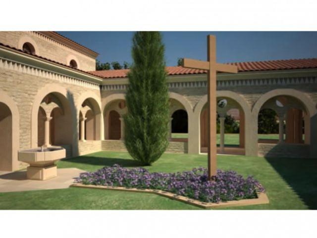 Le coeur du monastère - vue 3D - Bâtisseur de monastère