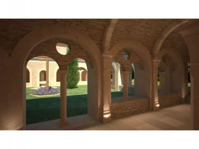 Le jardin - vue 3D - Bâtisseur de monastère