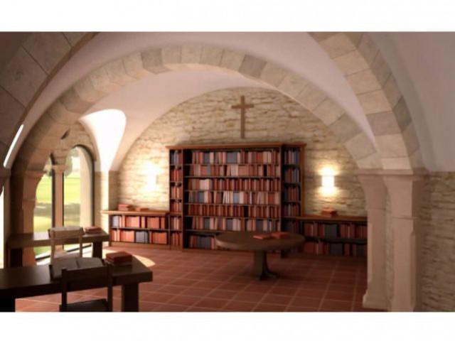 Le scriptorium - vue 3D - Bâtisseur de monastère